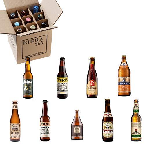 Caja degustación 9 cervezas diferentes.La caja perfecta para catar 9 estilos de cerveza diferentes.