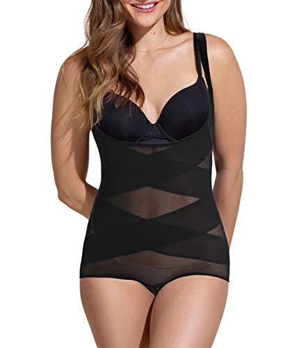 COMFREE Reductor Bodies Moldeadores Braguitas Moldeadoras Completas para Mujer Body Shaper Abdomen Adelgazante Cómodo y Ligero Negro S ⭐