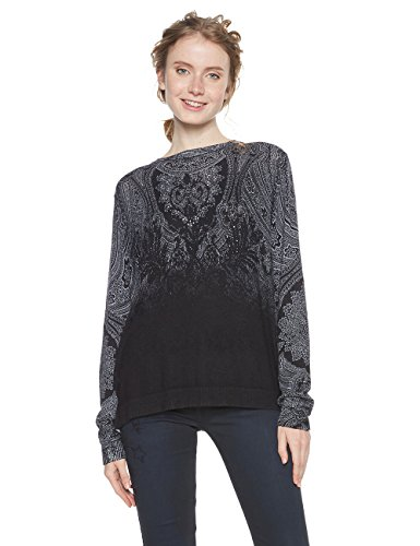 Desigual Jers_edimburgo suéter, (Negro 2000), Medium para Mujer
