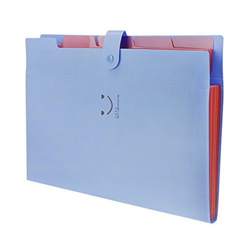 a4ファイルケース 5ポケット おしゃれ ドキュメントファイル フォルダー 書類入れケース 4仕切り ppバッグ 資料カバー 笑顔 手形 伝票整理 収納ケース スナップ留め具 ファイルバッグ 文房具 オフィス 事務用品 学用品 プレゼント ブルー