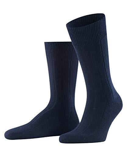 FALKE Herren Lhasa Rib M SO Socken, Blickdicht, Blau (Dark Navy 6370), 43-46