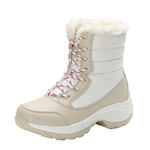 Botas de Nieve Aire Libre Botas Camperas con Cordones de Invierno para Mujer Otoño Moda 2018 PAOLIAN Botines Plataforma Conservar el Calor Señora Zapatos Talla Grande Calzado Dama Antideslizante