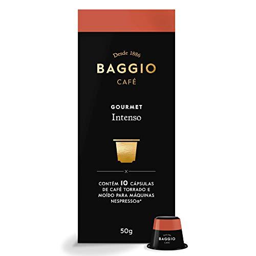 Cápsulas de Café Intenso Baggio Café, compatível com Nespresso, contém 10 cápsulas