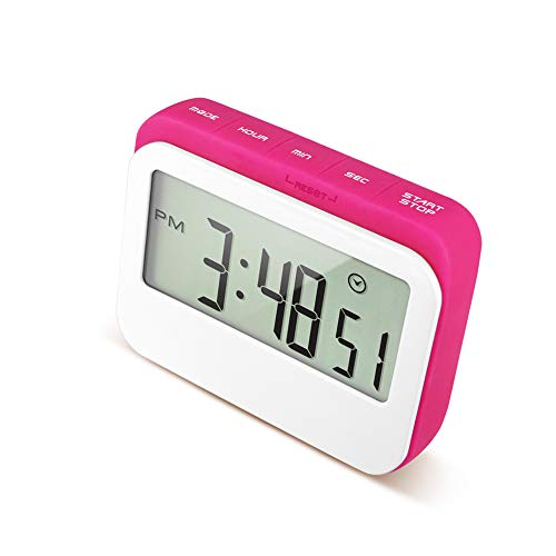 Anjing Multifunctional Timer Silicone Candy Color Timer Student Reminder Timer Kitchen Countdown Alarm Clock Red