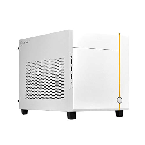 SilverStone Technology SUGO 14, Blanco, Chasis Cubo Mini-ITX, Acepta Tarjetas gráficas de tamaño Completo y 3 zócalos/ATX PSU/240mm AIO, 4 Paneles extraíbles, SST-SG14W