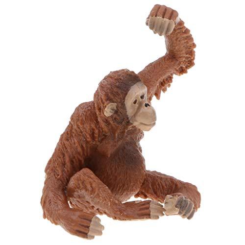 F Fityle Figura de Acción de Modelo de Animal de La Selva de Orangután Rojo Realista de Juguete para Niños Pequeños, Decoración del Hogar, Coleccionable