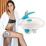 Appareil de massage corporel électrique anti-cellulite FIRMAX, appareil de massage anti-cellulite à 2 niveaux d'intensité, appareil de massage anti-cellulite à 6 têtes rotatives en silicone.