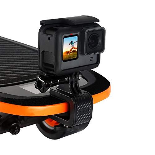AuyKoo Accesorios de clip de soporte de monopatín multifuncional giratorio de 180 grados para GoPro Hero 9 8 7 6 5 Negro Xiaomi YI 4K EKEN Cámaras deportivas Osmo Action