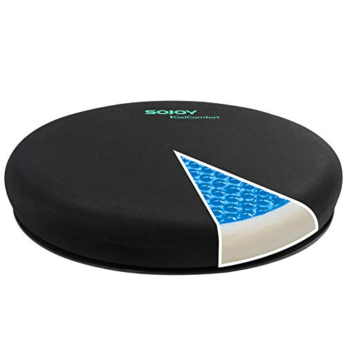 Sojoy iGelComfort Deluxe Gel Swivel Seat Cushion Featured with Memory Foam (15.5X15.5X2.5)