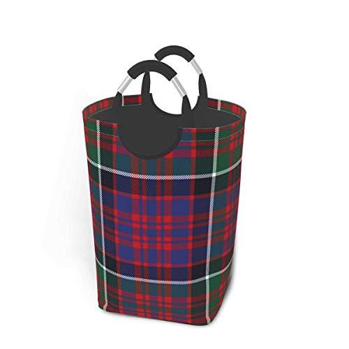 XCNGG Cesto de Ropa para Guardar la Ropa Macdonald of Clan Ranald Red Tartan Cesta de Almacenamiento Plegable Grande para Ropa Sucia Juguetes Libros