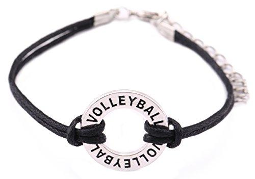 Teamer verstellbares Wachsband Armband Volleyball Charm Schmuck für Frauen/Mann