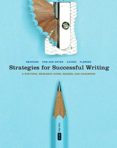 Strategies for Successful Writing: A Rhetoric, Research Guide, Reader, and Handbook, Fifth Canadian Edition with MyCanad