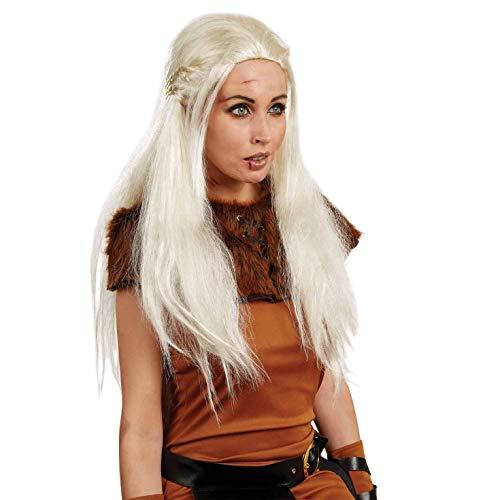 Fun Shack Costume Disfraz, Medieval Wig, Talla única Women's