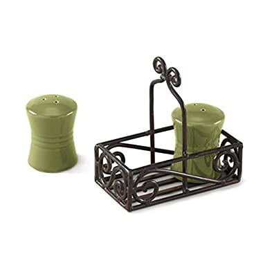 Park Designs Village Salt and Pepper Caddy Set - Black