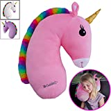 Best Car Pillow For Kids - Unicorn Travel Pet by Cuddles| Seat Belt Pillow Review