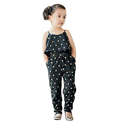 Hot Baby Girls Floral Jumpsuit Romper Ruffle Top Pants Outfit été