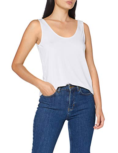 PIECES Damen PCKAMALA Tank TOP NOOS BC Trägershirt/Cami Shirt, Bright White, S
