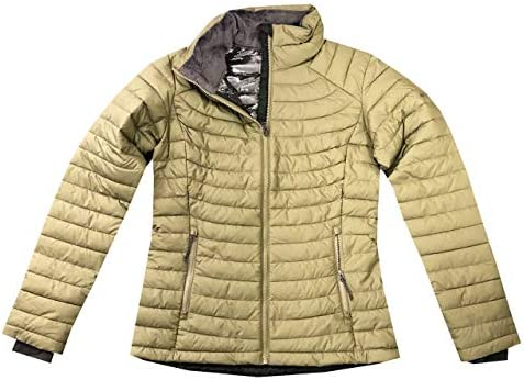 Columbia Women s White Out ll Omni Heat Jacket Puffer XS Olive product image