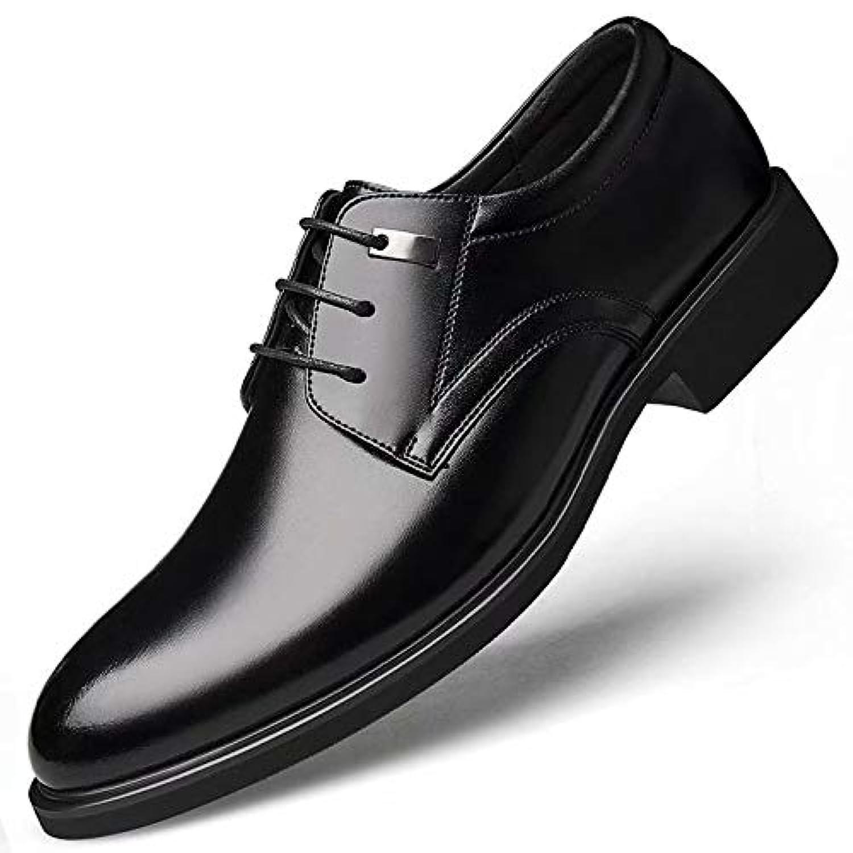 [Flova] ビジネスシューズ メンズ 外羽根 革靴 紳士靴 ファッション ビジネス レースアップ 通勤 フォーマル 通気性 蒸れない 防滑 冠婚葬祭 営業マン 黒 ブラック