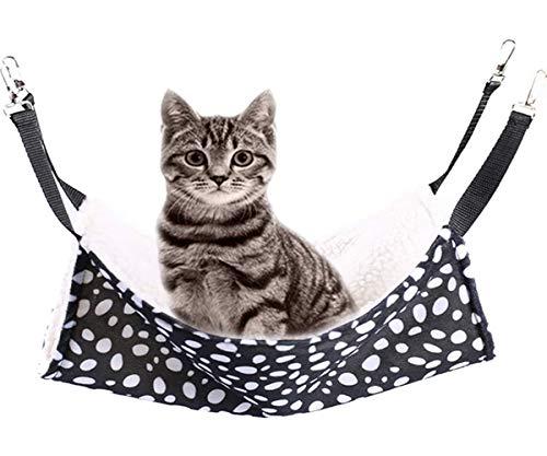 Rolybag Pet cage Hammock, pet Hammock, dot pet Hammock, pet cage Hammock, Soft Plush pet Bed, Suitable for Ferret Cotton Hammock, Guinea Pig, Hamster, Gerbil, cat cage, etc. (Large)