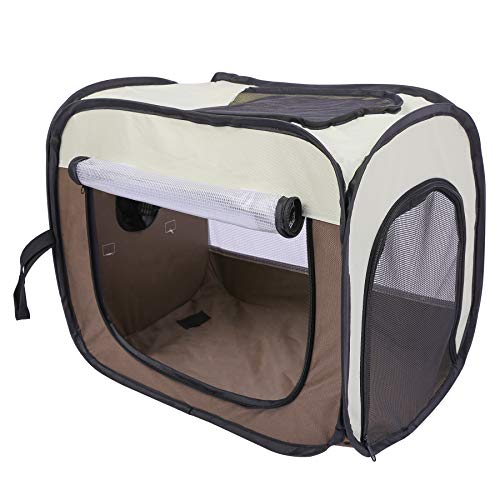 Domaker Pet Drying Box,Portable Pet Dryer Cage Foldable Puppy Hair Drying Box Hands-Free Doggy Grooming Hair Clearing Travel Bags for Dogs Cats Rabbit, 20.1''×12.2''×16.5''