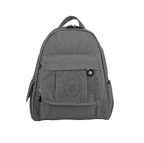 OBC Unisex Kinder & Erwachsene Bag Street Rucksack Tablettasche Crinkle Nylon Schultertasche Tasche Kinderrucksack (Grau)