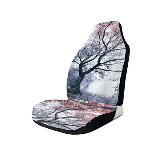 YAGEAD Fundas para asiento de coche Cubierta de asiento de cubo elástica de árbol forestal Universal Fit Most Car/Truck/Suv