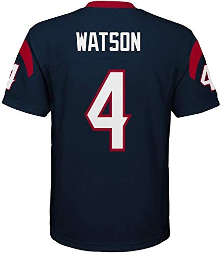 Outerstuff Deshaun Watson Houston Texans NFL Youth 8-20 Navy Home Mid-Tier Jersey (Youth Medium 10-12)
