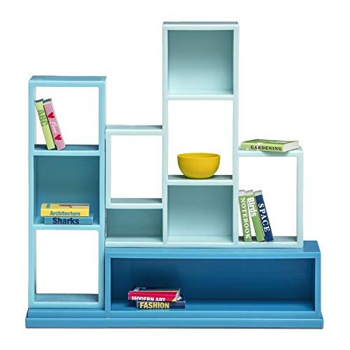 Lundby 60-306000 - Bücherregal Puppenhaus - Möbelset 12-teilig - Möbel - Puppenhauszubehör - Regal mit 10 herausnehmbaren Büchern - Zubehör - ab 4 Jahre - 11 cm Puppen - Minipuppen 1:18