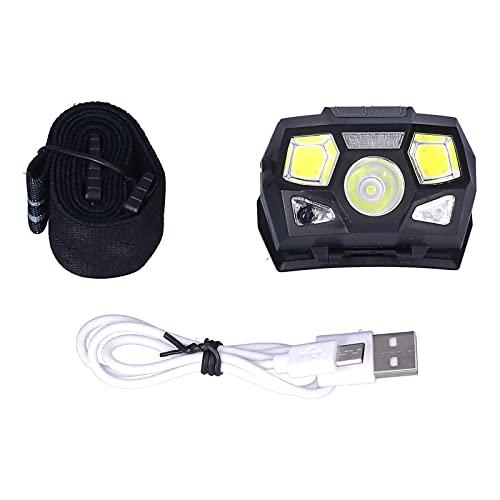 Lámpara principal llevada modos de oscurecimiento múltiples libremente ajustables de 60 grados para la pesca nocturna