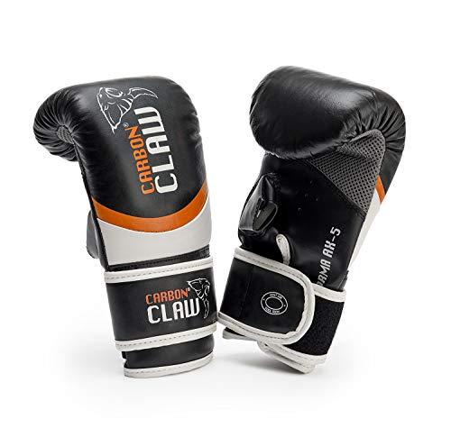 Carbon Claw - mit Sabre tx-5Leather Bag Mitts–Farbe: Schwarz/Orange–Größe-M/L