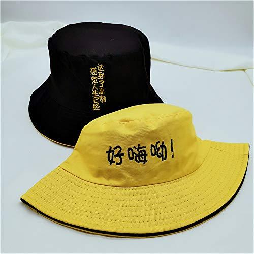 mlpnko Sombrero de Pescador de Doble Cara Sombrero de Lavabo de Personalidad...