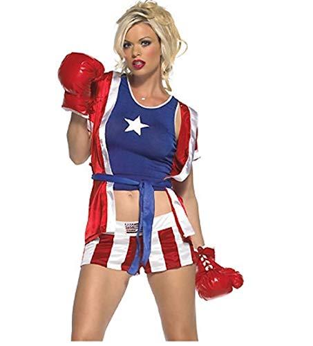 Top Totty - Disfraz de Boxeo para Mujer