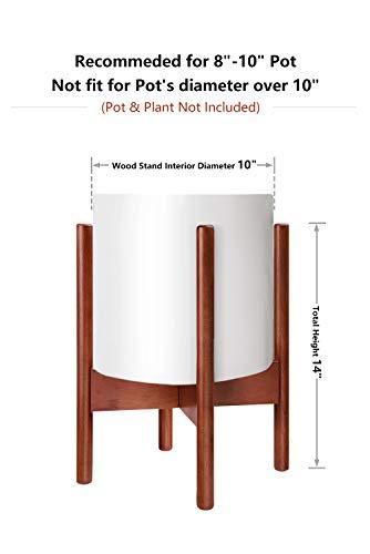 MoonLaPlantStandMidCenturyWoodFlowerPotHolderDisplayPottedPlantHolderRackRusticPlanterStandUpto10Inch(PlantandPotNOTIncluded),Brown