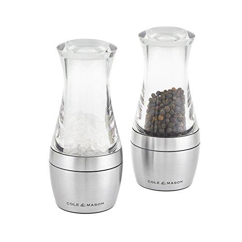 Cole & Mason set molens zout en peper Wishford, acryl, transparant, 6 x 6 x 14 cm