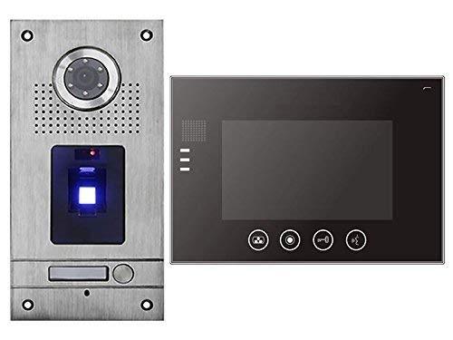 Fingerprint Türsprechanlage 7\'\' Monitor Gegensprechanlage Video Bildspeicher
