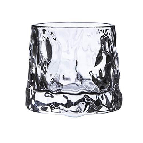 N\C Vaso de cristal giratorio de la descompresión de la barra de cristal del whisky engrosado árbol de cristal del patrón del vaso
