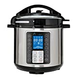 Advwin 6L Electric Digital Pressure Cooker, All in One Big LED Display Multi Cooker, Nonstick Pot Rice Cooker, Slower Cooker, Black