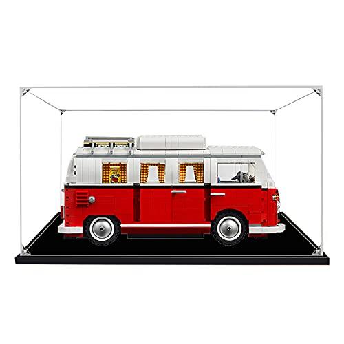 QXQY 3MM Antipolvere Casella di visualizzazione per Lego 10220 Volkswagen T Camper Van ,Teca Acrilico Vetrina for Lego 10220 (Modello Lego Non Incluso)