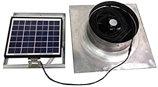 MANANASUN DIY Solar Attic Fan Vent (10W)