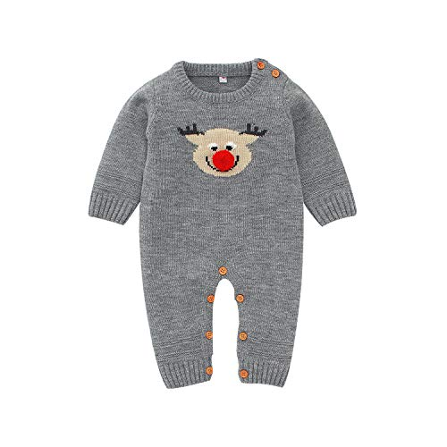 Baby Meisjes Jongens Romper Katoen Outfit Jumpsuit Kerstmis Elk Baby Kleding Klimmen Gebreide Trui Herfst Winter