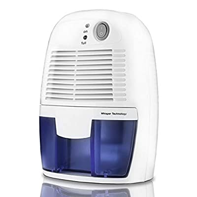 Electric Mini Dehumidifier, 1200 Cubic Feet (160 sq ft), 17oz Water Tank, Portable and Compact Ultra Quiet Small Dehumidifier for Basement, Bedroom, Bathroom, Baby Room, Garage, Caravan, Home from BHYP