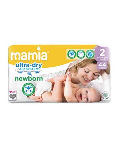 Aldi Mamia Windeln für Neugeborene, Ultra Dry Air System, Größe 2 (44 Windeln)