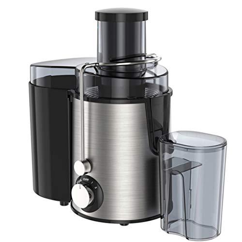LYY Entsafter, Multi-Funktions-Extractor Mixer Edelstahl 400W 2 Geschwindigkeit Entsafter Elektro-Gemüse, Obst, Trinkende Maschine,Silber