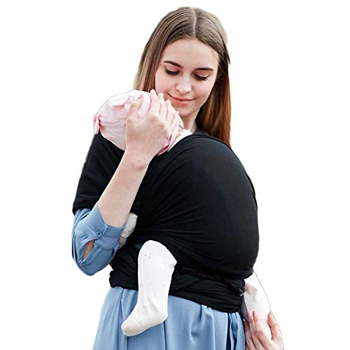 G&F Envuelva Portabebé Sling De Bebé Cabestrillo Infantil Recién Nacido Bebés Y Niños hasta 20 Kg (Color : Black)