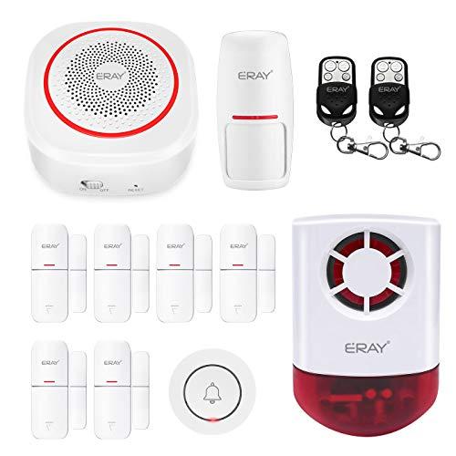 Smarte Alarmanlage mit Alexa/Google Integration, ERAY WLAN Alarmanlage Haus App Steuern/Erweiterbar/Zeitgesteuertes Aktivieren, Diebstahlschutz Alarmanlage für Haus, Büro (H3-A-DE)