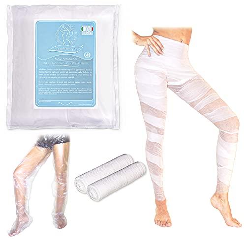Natural beauty line- bendaggio anticellulite + OMAGGIO pantaloni cartene   2 bende riducenti e drenanti effetto FREDDO