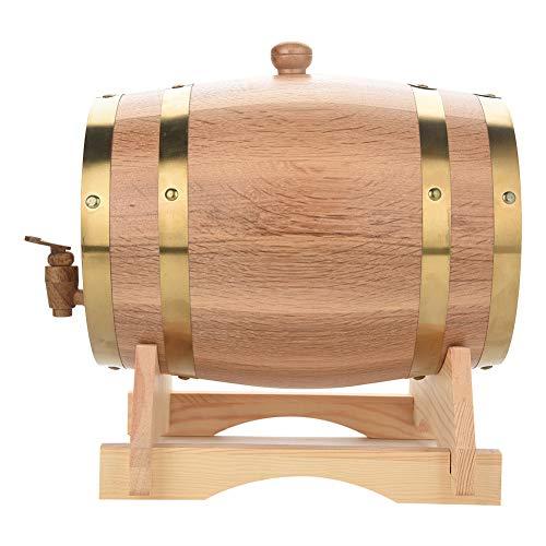Barril de vino de madera, 1,5 L, 3 L, 5 L, 10 L, barril de vino en barril de roble para almacenamiento de vino y licores (5 L)