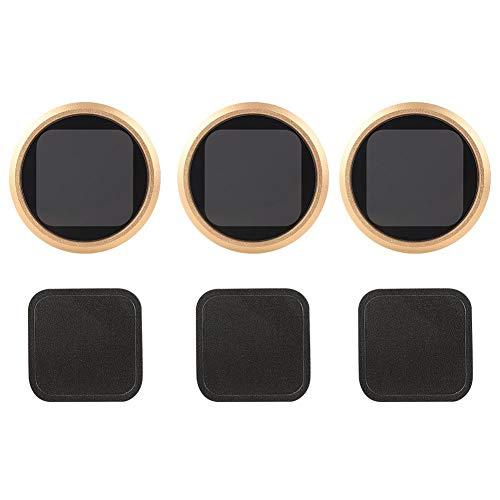 Entatial Kit de Filtro de Lente de cámara Buceo de Vidrio óptico ND 8 16 32 para cámara Deportiva 8