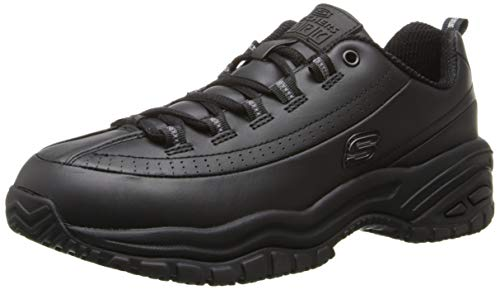 Skechers for Work Women's Soft Stride-Softie Lace-Up, Black, 11 D - Wide